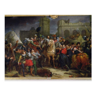 La entrada de Enrique IV en París Postal