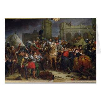 La entrada de Enrique IV en París Tarjeta De Felicitación