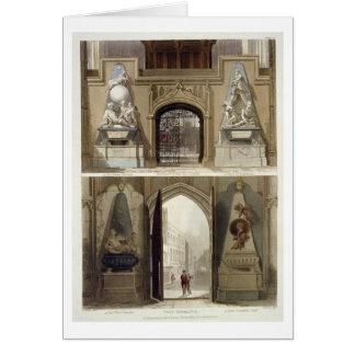 La entrada en el coro y la entrada del oeste, tarjeton