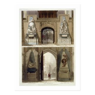 La entrada en el coro y la entrada del oeste, postales