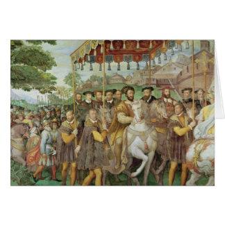 La entrada solemne del emperador Charles V Tarjeta De Felicitación