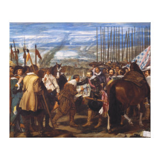 La entrega de Breda o de las lanzas por Velázquez Impresión En Lona