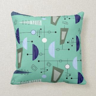 La era atómica inspiró la almohada #100 abstracto