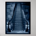 La escalera móvil impresiones