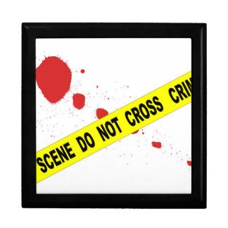 La escena del crimen no cruza caja de regalo