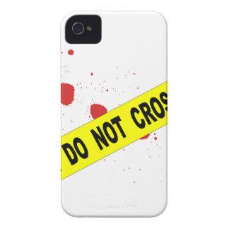 La escena del crimen no cruza carcasa para iPhone 4 de Case-Mate