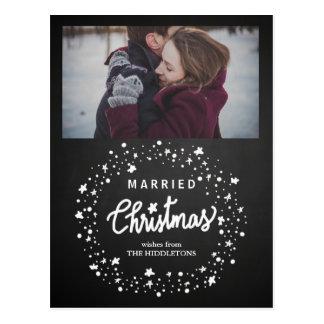 La escritura casada del navidad protagoniza la postal