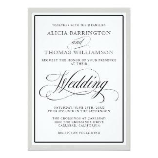 La escritura elegante prospera con cualquier invitación 12,7 x 17,8 cm