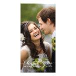La escritura simple el | que se casa le agradece t plantilla para tarjeta de foto
