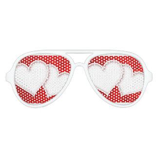 La escuela casera de la oficina personaliza gafas de fiesta de aviador