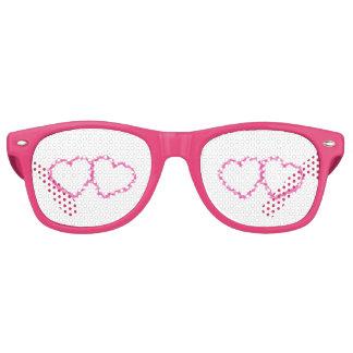 La escuela casera de la oficina personaliza gafas de fiesta retro