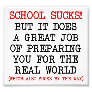 La escuela chupa como el poster divertido de la vi foto