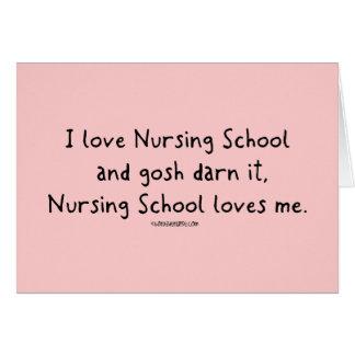 La escuela de enfermería me ama tarjeton