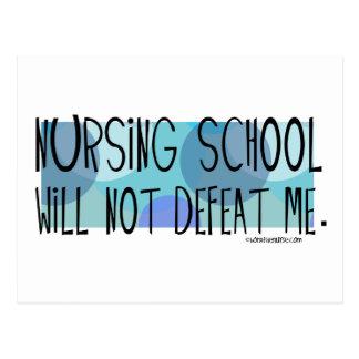 La escuela de enfermería no me derrotará postales