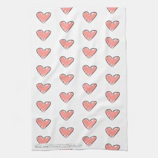 La escuela de la toalla de té del corazón del amor