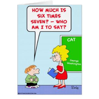 la escuela embroma la multiplicación de los profes tarjeta de felicitación