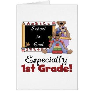 La escuela es especialmente 1r grado fresco felicitacion