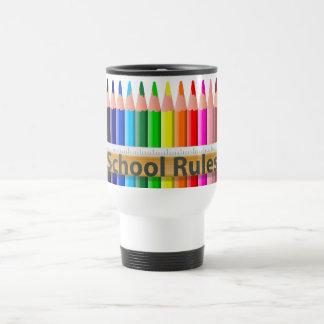 La escuela gobierna la taza del viajero de los