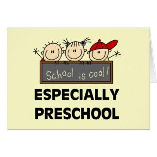 La escuela preescolar es camisetas y regalos fresc tarjeta de felicitación