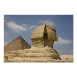La esfinge, Giza, Al Jizah, Egipto Poster