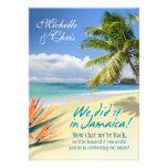 La esmeralda riega la tarjeta de la recepción (Jam Comunicados Personalizados
