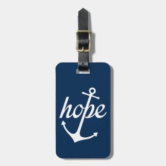 La esperanza ancla el alma (el 6:19 de los etiqueta para maletas
