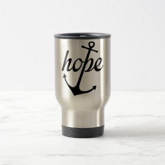 La esperanza ancla el alma (el 6:19 de los taza de viaje