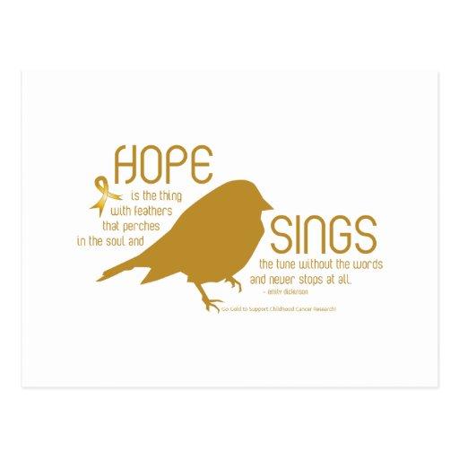 La esperanza canta el oro postal