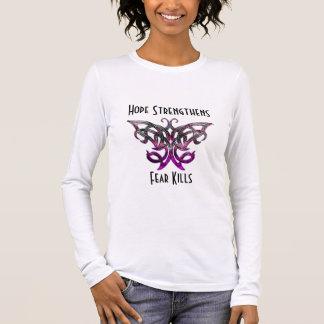 La esperanza consolida la camiseta larga de la