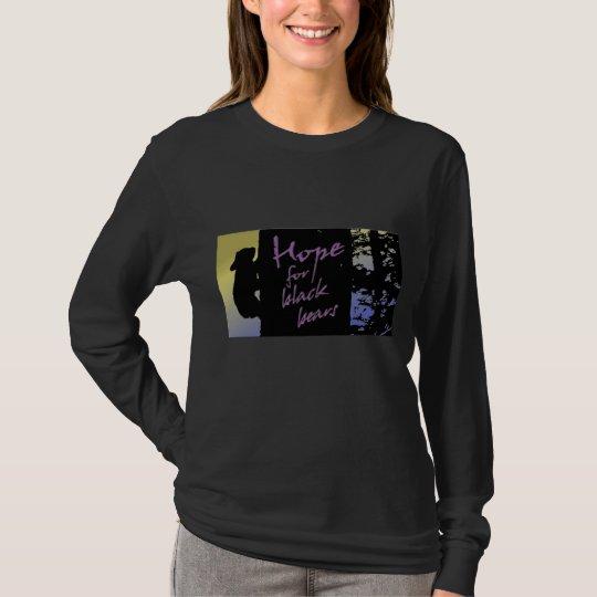 La esperanza de las mujeres del gasero negro de camiseta