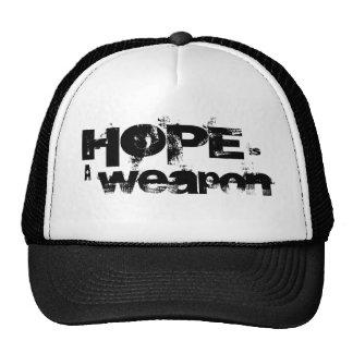 La esperanza es un gorra negro y blanco del arma