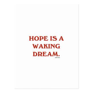 La esperanza es un sueño el despertar (la sabidurí tarjetas postales