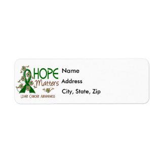 La esperanza importa cáncer de hígado 3 etiquetas de remite