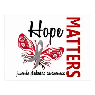 La esperanza importa diabetes juvenil de la maripo postal