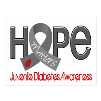 La esperanza importa la diabetes juvenil 2 tarjetas postales
