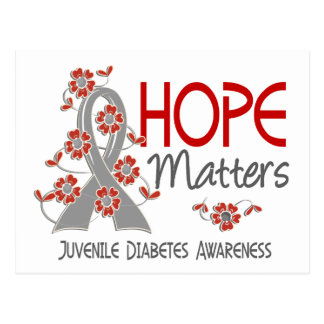 La esperanza importa la diabetes juvenil 3 tarjetas postales