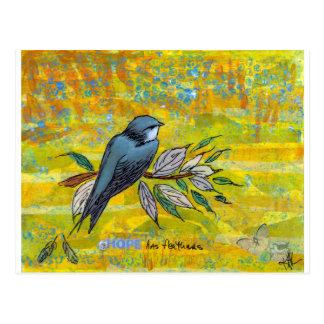 La esperanza tiene plumas tarjetas postales
