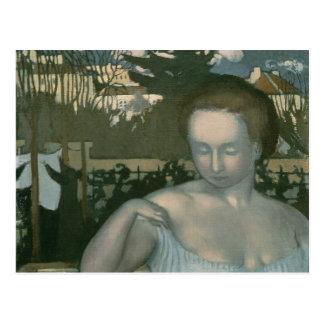 La esposa del artista, 1893 postal