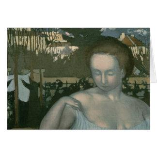 La esposa del artista, 1893 tarjeta de felicitación