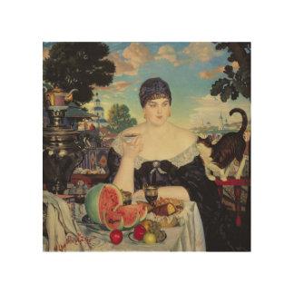 La esposa del comerciante en Tea, 1918 Impresiones En Madera