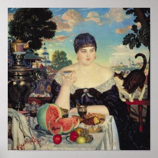 La esposa del comerciante en Tea, 1918 Póster