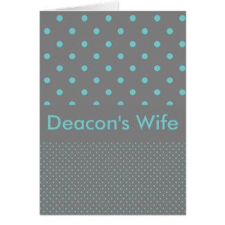 La esposa del diácono tarjeta de felicitación