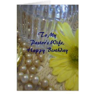 La esposa del pastor del feliz cumpleaños - tarjeta de felicitación
