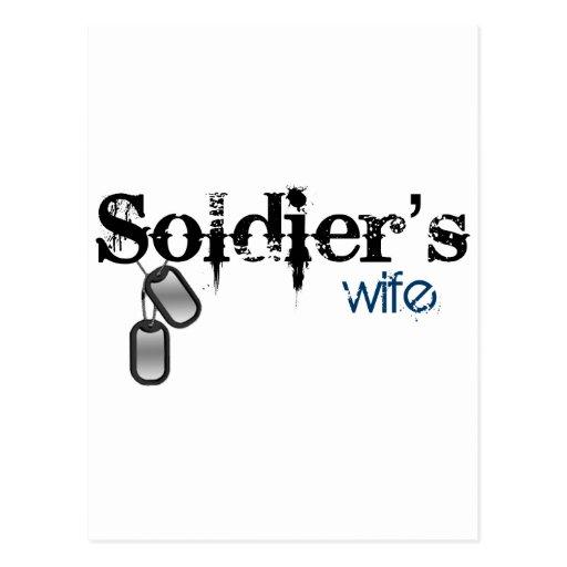 La esposa del soldado tarjetas postales