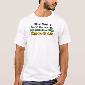 La esposa jamaicana lo sabe todo camiseta