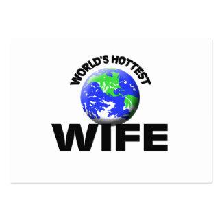 La esposa más caliente del mundo plantillas de tarjetas de visita