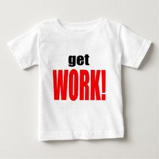 La ESPOSA QUE CULPA trabajo rojo que va del Camiseta De Bebé