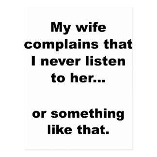 La esposa se queja postal