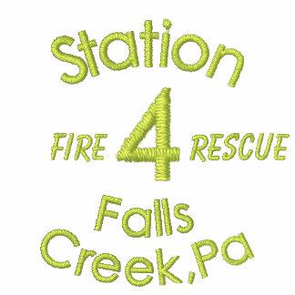 La estación, 4, cae la cala, PA, fuego, Rescate-Su Sudadera Bordada Con Capucha