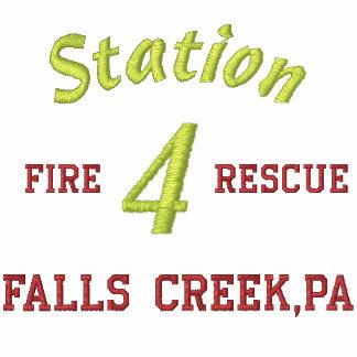 La estación 4 fuego rescate cae cala PA-Camis Sudadera Bordada